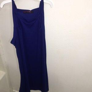 Long blue simple dress. Brand new